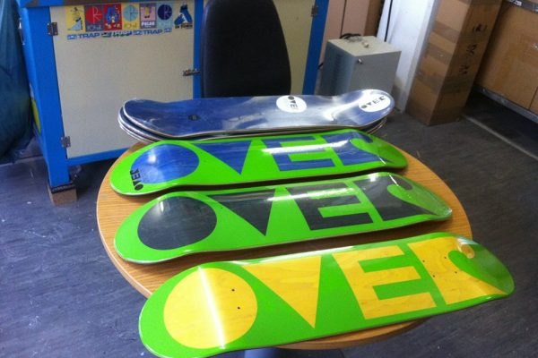 over skateboards