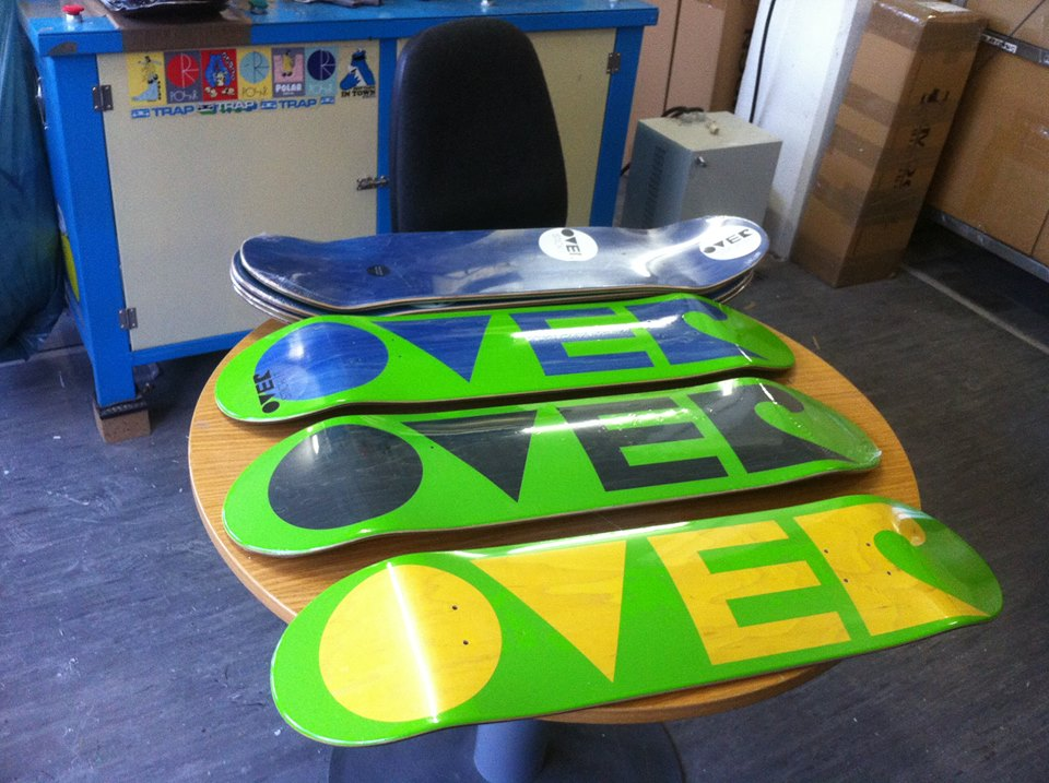 over skateboards